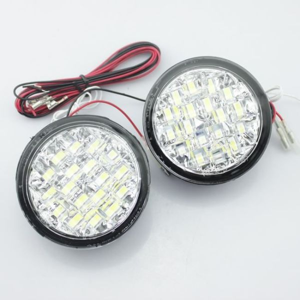 Lumini de zi rotunde 18 led *0,5W 12V - Off when headlight on
