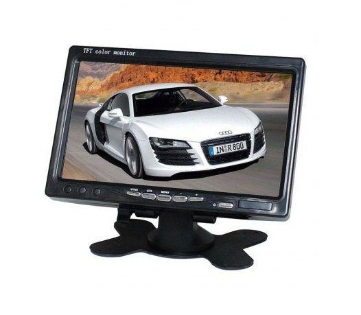 "Display auto LCD 7"" 12V - 24V D707 cu rama montaj perete"