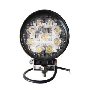 Proiector LED Auto Offroad 27W/12V-24V 1980 Lumeni Rotund Spot Beam