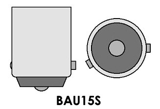 Led auto Galben BAU15S High Power cu pini asimetrici la 150 grade, leduri auto interior / exterior, led pozitie, semnalizare, marsarier, stopuri / frana…