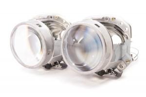 """Lupe Bixenon 3"""" tip Hella EvoX-R E55 H7 pentru becuri H7 cu xenon, LED sau halogen PREMIUM"""