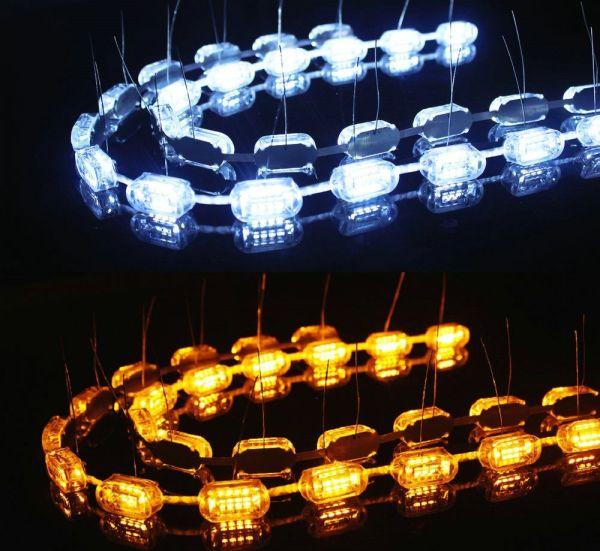 Lumini de zi flexibile cu semnalizare cu 16 module cu leduri V1