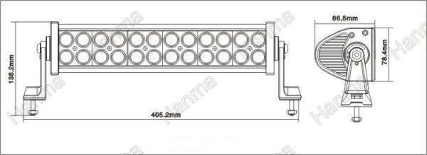 """LED Bar Auto Offroad 4D 72W/12V-24V, 5280 Lumeni, 13,5""""/35 cm, Combo Beam 12/60 Grade PREMIUM"""