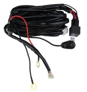 Cablaj cu buton si releu pentru 1 proiector led/led bar pana la 288W PREMIUM