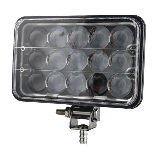 Proiector LED cu doua faze 45W/12V-24V, 3300 Lumeni, Dreptunghiular, Spot Beam 30 Grade PREMIUM