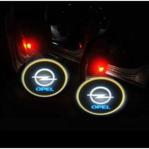 Proiectoare Portiere cu Logo Opel PREMIUM