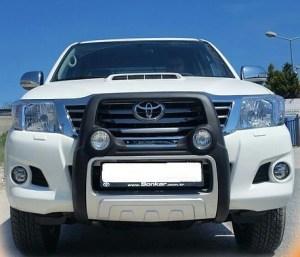 Bullbar poliuretan cu proiectoare Toyota Hilux 2005, 2006, 2007, 2008, 2009, 2010, 2011 TYA405 PREMIUM