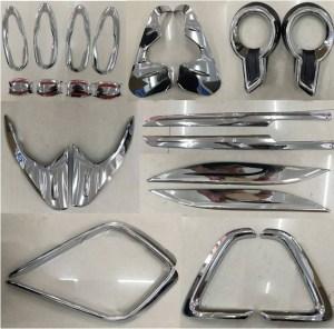 Set 22 ornamente cromate Toyota Hilux Revo 2015, 2016, 2017, 2018, 2019 TYE808 PREMIUM