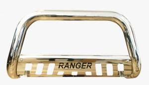 """Bullbar inox cu scut Ford Ranger T6 2012, 2013, 2014, 2015 Ø76mm / 3"""" FDA658 PREMIUM"""