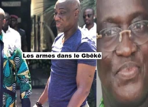 armes dans le gbeke Soul To Soul et Jacque Angoua LEDEBATIVOIRIEN.NET