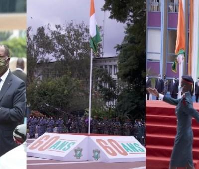 60 e anniversaire indépendance avec alassane ouattara LEDEBATIVOIRIEN.NET