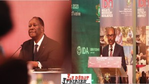 IDA-20-Alassane Ouattara : «L'Afrique subsaharienne connait une croissance négatif de 1,9%, et une augmentation de 32 millions de personnes vivant dans l'extrême pauvreté» LEDEBATIVOIRIEN.NET