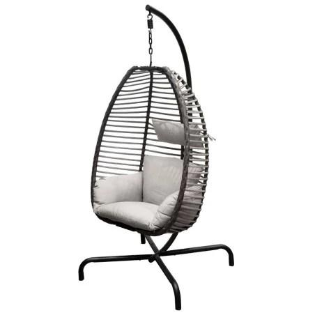 fauteuil œuf suspendu saly taupe hesperide