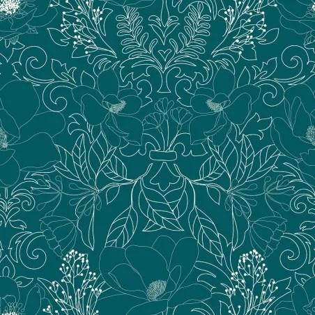 parure de lit amelia bleu canard et motifs 240x220 atmosphera