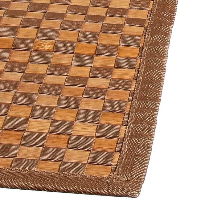 tapis bambou damier 120x170 cm naturel