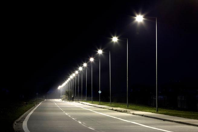 streetlight with ledil optics