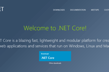 Welcome to .NET Core