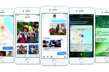 Copies d'écran d'iOS 10