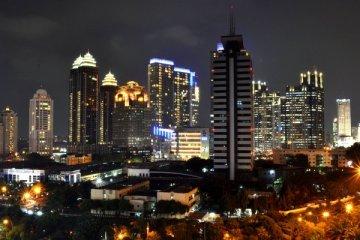 Jakarta, vue de nuit du quartier des affaires Sudirman. Photo: Muhammad Rasyid Prabowo