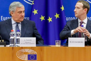 Antonio Tajani et Mark Zuckerberg