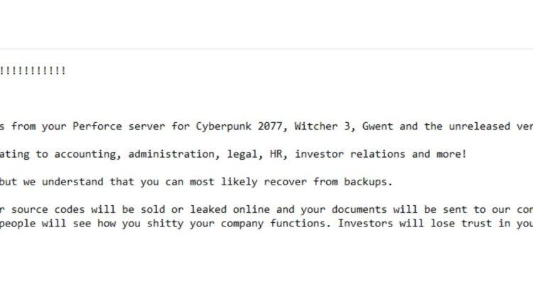 CD Projekt Red, l'éditeur de Cyberpunk 2077, est attaqué par des pirates informatiques