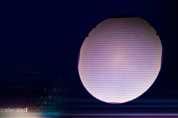 Un wafer de test de noeud Intel 4 pour les puces au nom de code Meteor Lake.
