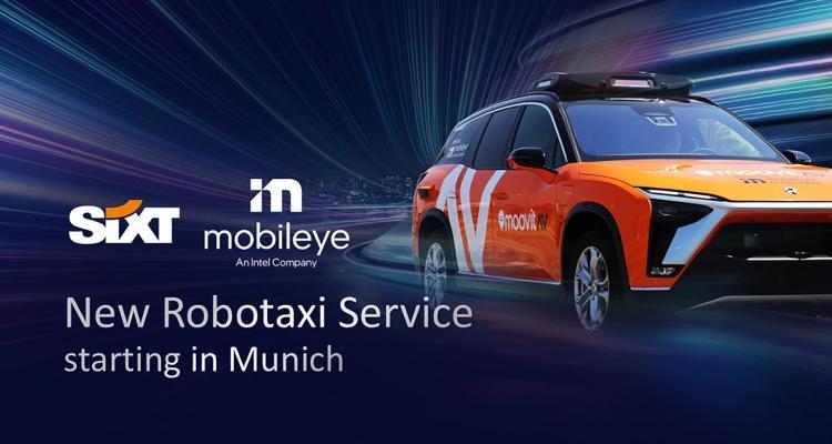 Service de taxis autonomes Mobileye-Sixt