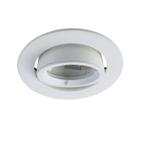 LED Einbaurahmen Aluminium weiss
