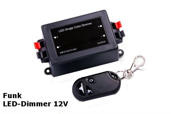 Funk LED Dimmer 12v mit Fernbedienung