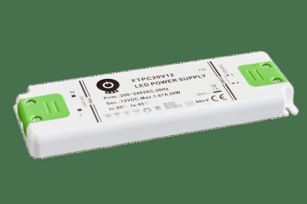 20W LED Trafo 12V DC für Möbeleinbau flach, klein