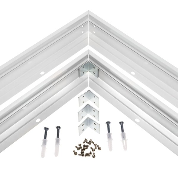Aufbaurahmen für LED Panel 120x30cm Wand & Deckenmontage