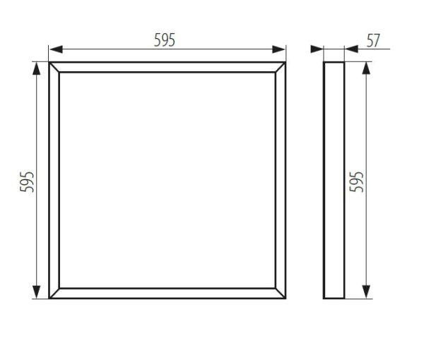Abmessungen LED Deckenpanel Aufputz Wandpanel