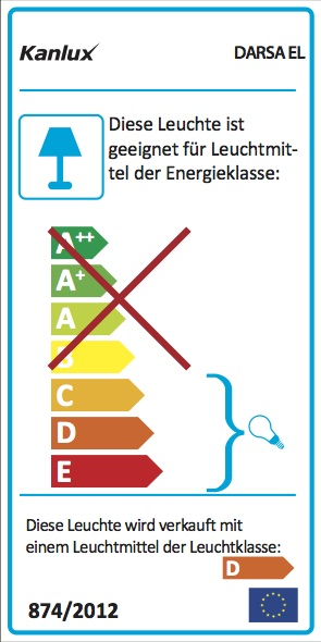 Energielabel Kanlux Darsa Wandleuchte