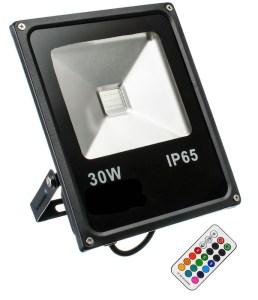 30W RGB Fluter Slim mit RF Fernbedienung