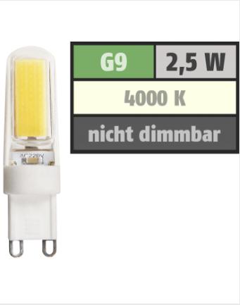 G9 GU9 LED Baform wie Halogen