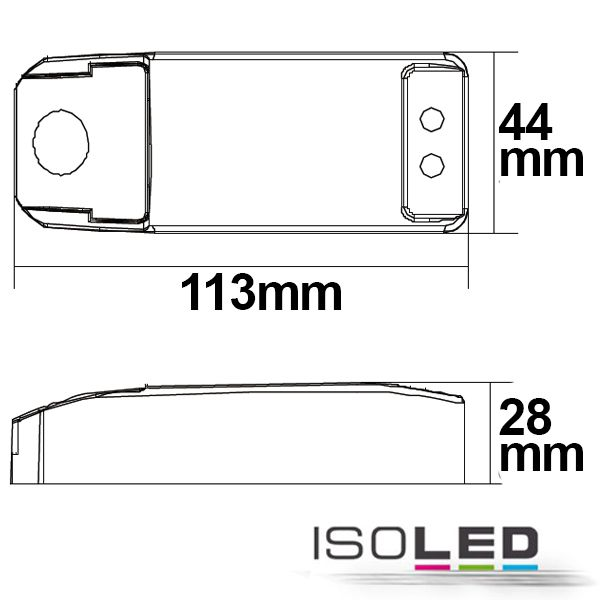 Abmessungen LED Trafo dimmbar 105W 12V AC
