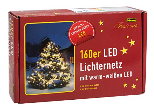 LED Lichternetz warmweiss aussen