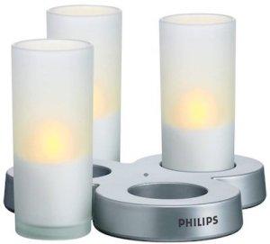 Philips Imageo 3er LED Kerzen Set mit Ladestation