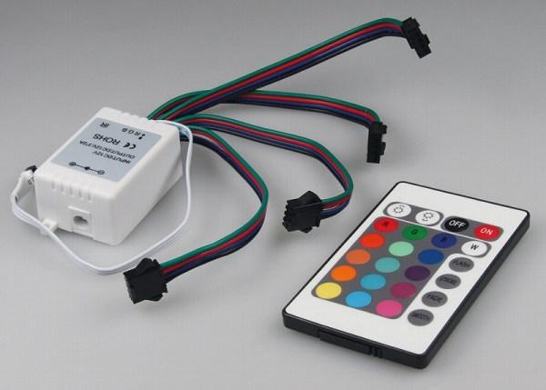 RGB Controller mit 4 Ausgängen für mehrere RGB Stripes