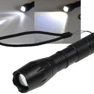 Helle Power LED Taschenlampe Zoom / SOS 10 Watt
