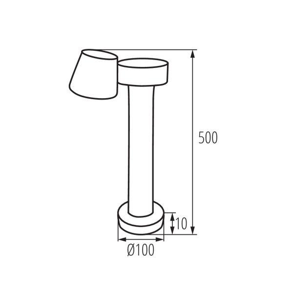 Maße LED Außenleuchte 230V 4000K neutralweiss 350 Lumen