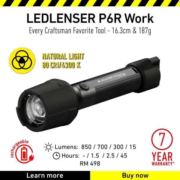 Ledlenser Flashlight Product P6R Work