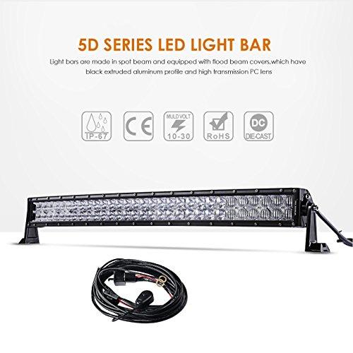 Auxbeam 32 180w Curved Led Light Bar 5d Lens 18000lm Cree