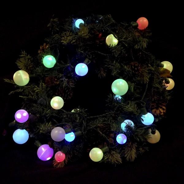 deco patio light string multi colored