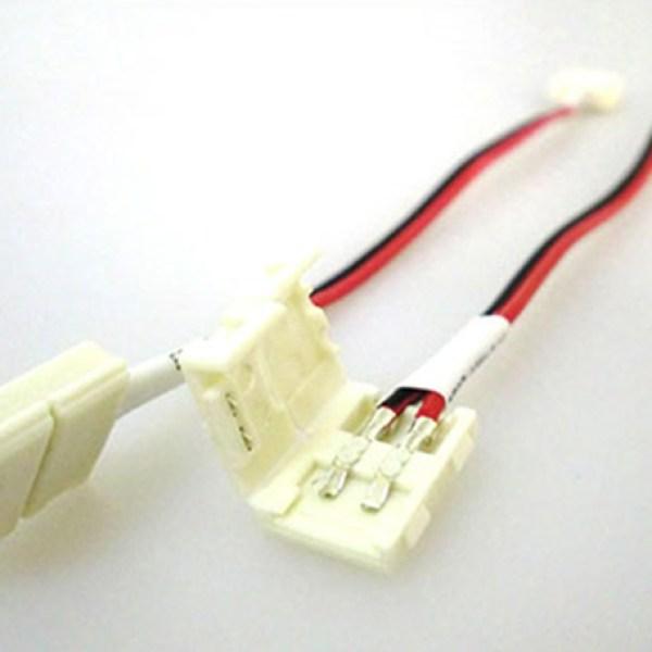 4 PZ Connettore 8mm Per Collegare Due Strip Led Smd 3528 Senza Saldare