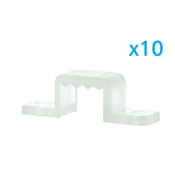 10 PZ Clip Fissaggio Rigido Passo 10X7 mm Per Fissare Bobina Striscia Led Impermeabile