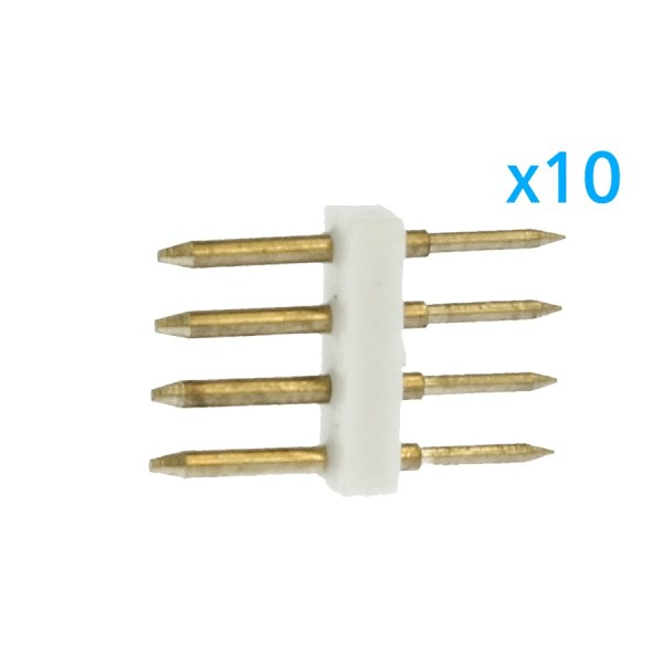 10 PZ Spina Da 4 Pin RGB Passo 12mm Per Collegamento Bobina Led RGB Da 220V Con Alimentatore Trasformatore Raddrizzatore