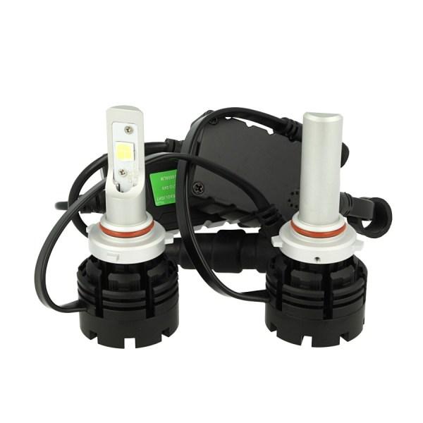Kit Full Led Canbus HB3 9005 HB4 9006 40W Specifica Per Auto Con Faro Lenticolare Dissipatore A Ventilatore Cree XHP 70 Attacco Smontabile Fuoco Regolabile