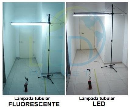 Lâmpadas Tubulares LED x Lâmpadas Tubulares Fluorescentes