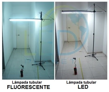 Charmant Lâmpadas Tubulares LED X Lâmpadas Tubulares Fluorescentes